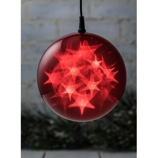 Large Red LED Lighted Sphere