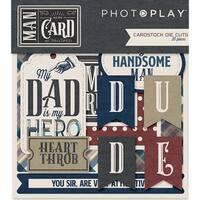 Man Card Cardstock Die-Cuts
