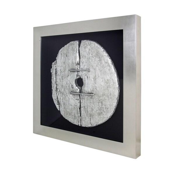 Harp & Finial Gombe Silvertone 4-inch Frame Wall Art