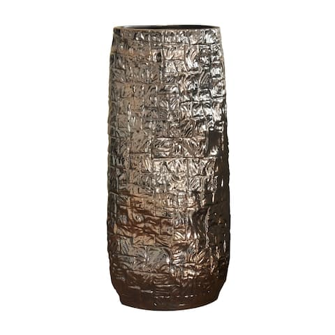 Harp & Finial Zaire Charcoal Large Ceramic Vase