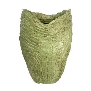 Harp & Finial Karri Moss Green Resin Vase