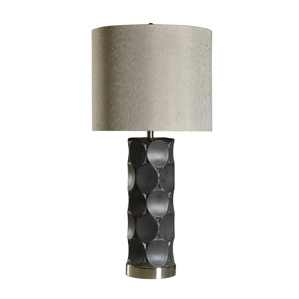 Harp Finial Rutherford 1 Light Charcoal Table Lamp