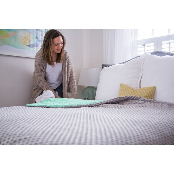 shop cmfrt adult weighted blanket with duvet cover 25 lbs free shipping today overstock. Black Bedroom Furniture Sets. Home Design Ideas