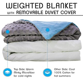 CMFRT Adult Weighted Blanket with Duvet Cover - 20 lbs