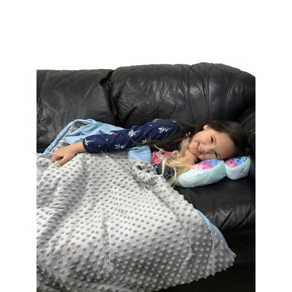 shop cmfrt kids weighted blanket with duvet cover 5 lbs free shipping today overstock. Black Bedroom Furniture Sets. Home Design Ideas
