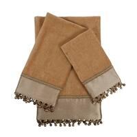 Sherry Kline Altadore Gold 3-piece Decorative Embellished Towel Set