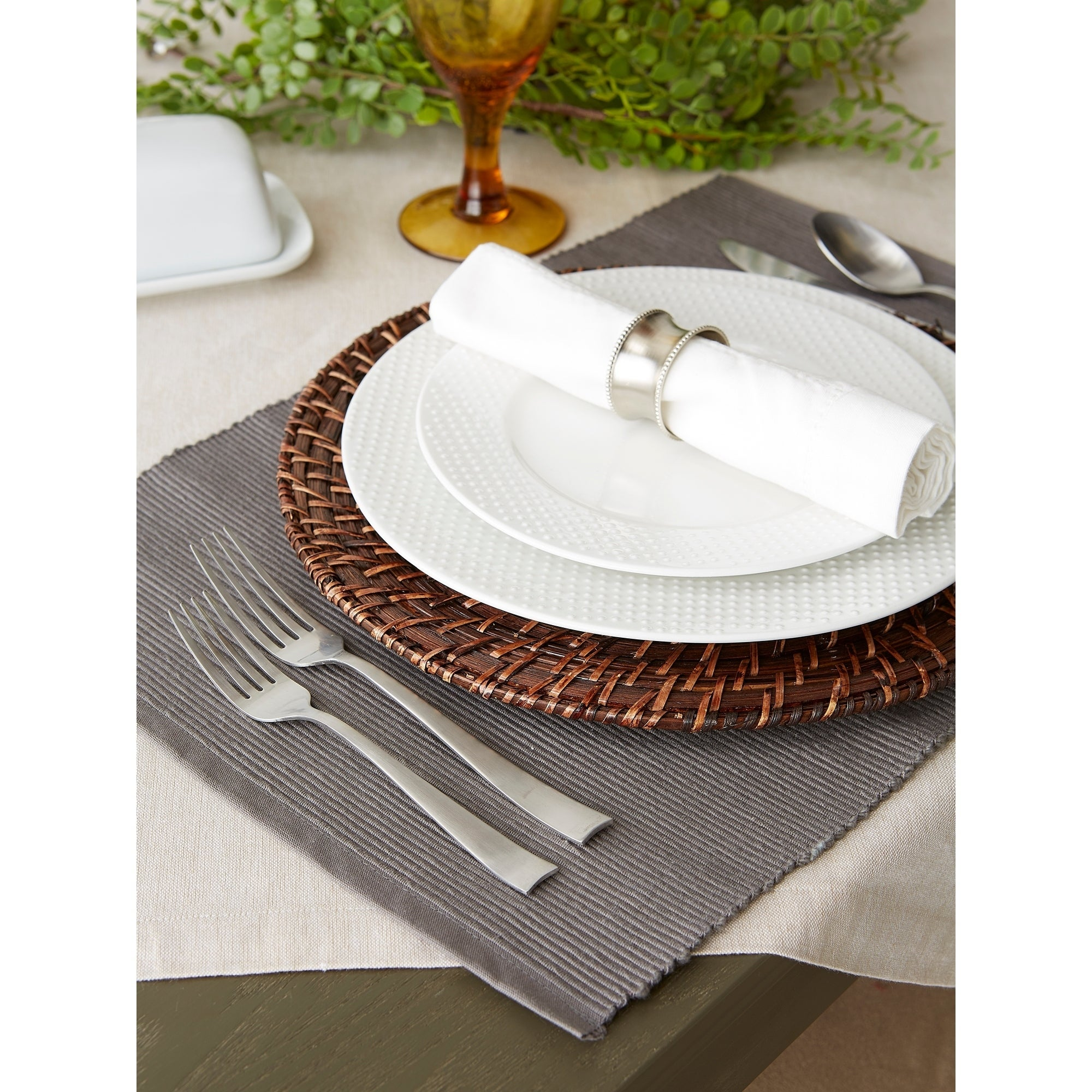 Shop For Design Imports Ribbed Kitchen Placemat Set Set Of 6 Get Free Delivery On Everything At Overstock Your Online Kitchen Dining Store Get 5 In Rewards With Club O 21214980