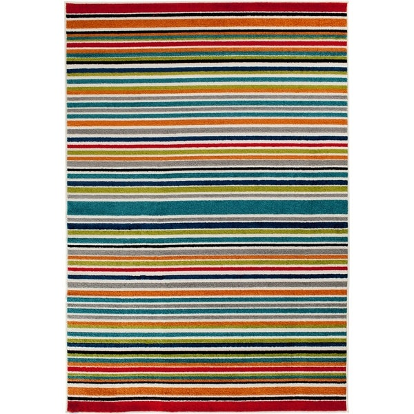 Shop Terrace Tropic Santee Multicolored Striped Indoor