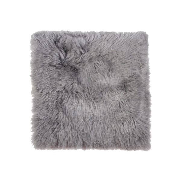 Sheepskin Chair Seat Cover 17x17 Grey
