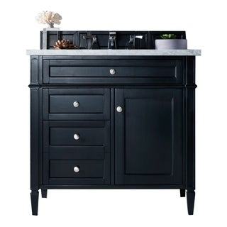 "Brittany 36"" Single Vanity, Black Onyx"
