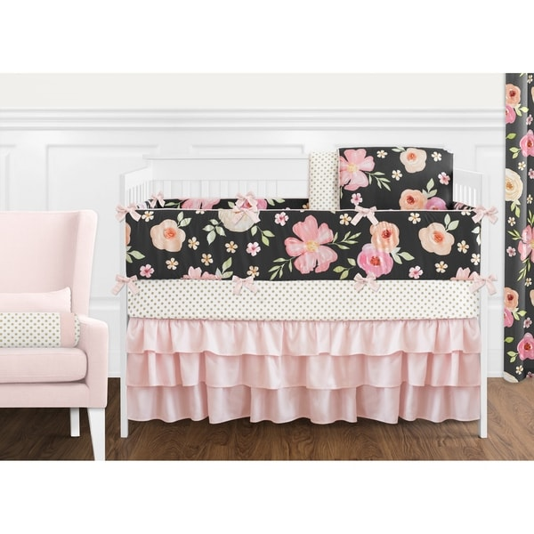 Grey Pink And Blush Comforters For 12 Year Old Girls: Shop Sweet Jojo Designs Black, Blush Pink And Gold Shabby