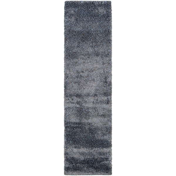 """Chione Greeley Blue-Gray Runner Rug - 2'2"""" x 7'10"""" runner"""