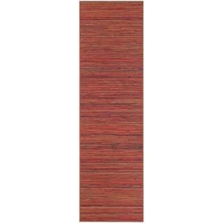 """Vector Loft/ Crimson-Multi Indoor/Outdoor Runner Rug - 2'3"""" x 7'10"""""""