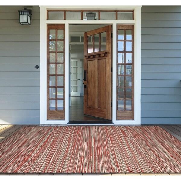 "Samantha Yacht Sand-Orange Indoor/Outdoor Area Rug - 2' x 3'7"""