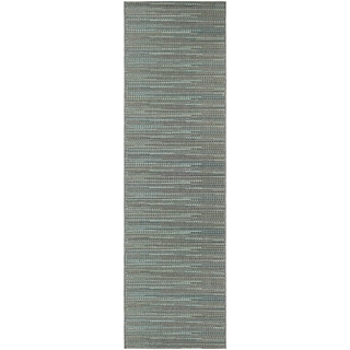 "Samantha Diva Blue-Multi Indoor/Outdoor Runner Rug - 2'3"" x 11'9"" Runner"