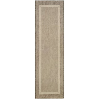 "Pergola Channel Natural-Coffee Indoor/Outdoor Runner Rug - 2'3"" x 7'10"" Runner"