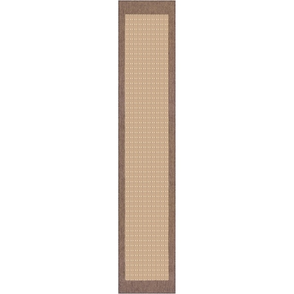 "Pergola Quad Natural-Cocoa Indoor/Outdoor Runner Rug - 2'3"" x 7'10"" Runner"