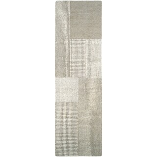 "Couristan Super Indo-Natural Joplin Light Brown/ Grey Wool Runner Rug - 2'2"" x 7'9"" runner"
