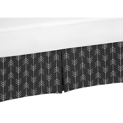 Sweet Jojo Designs Black and White Woodland Arrow Rustic Patch Baby Boy Collection Crib Bed Skirt
