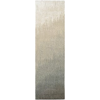"""Hand-Crafted Barlow Ombre Gray Runner Rug - 2'2"""" x 7'9"""" Runner"""