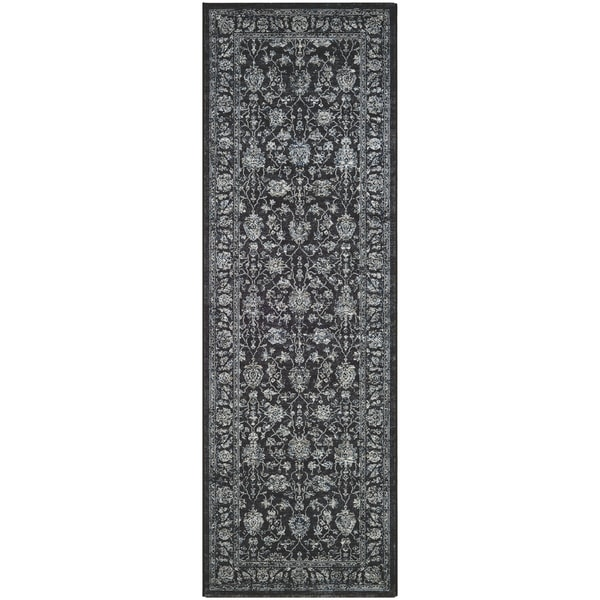 "Serai All Over Meshed Black Runner Rug - 2'7"" x 7'10"" runner"