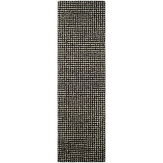 "Hand-Crafted Barlow Twill Weave Dark Brown Runner Rug - 2'2"" x 7'9"" Runner"