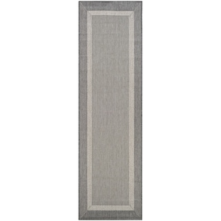 "Pergola Channel Champagne-Grey Indoor/Outdoor Runner Rug - 2'3"" x 11'9"" Runner"