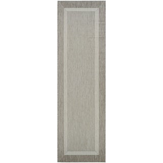 """Pergola Channel Champagne-Taupe Indoor/Outdoor Runner Rug - 2'3"""" x 11'9"""" Runner"""