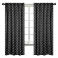 Sweet Jojo Designs Black and White Woodland Arrow Rustic Patch Collection 84-inch Window Treatment Curtain Panel Pair