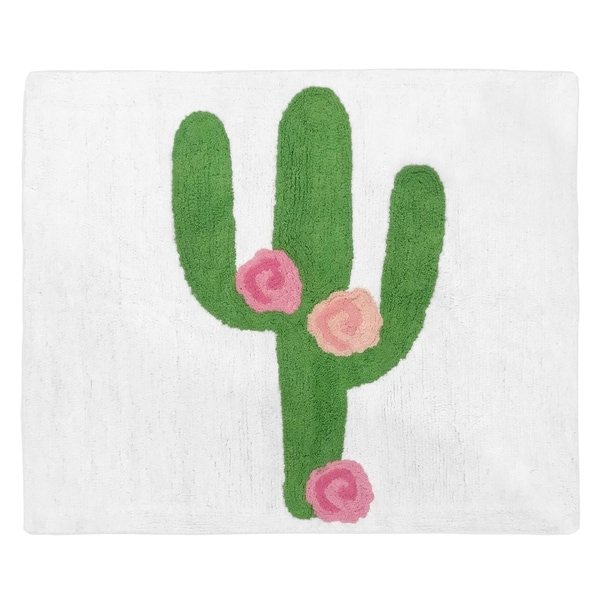 Sweet Jojo Designs Cactus Floral Collection Accent Floor Rug (2.5' x 3')
