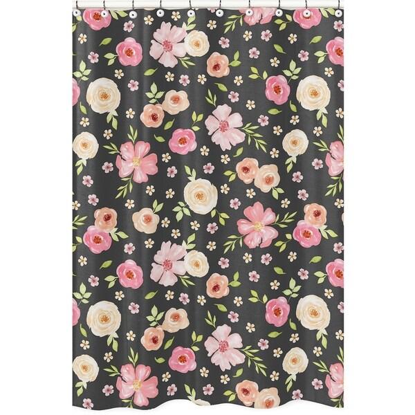 Shop Sweet Jojo Designs Black And Blush Pink Watercolor
