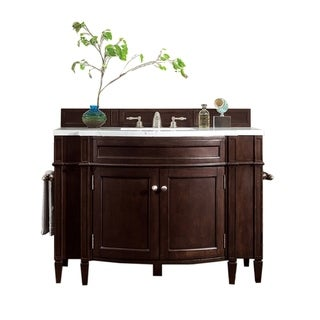 "Brittany 46"" Single Vanity, Burnished Mahogany"
