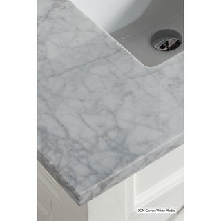 Brittany 46 Single Vanity, Urban Gray (3cm carrara white marble top)