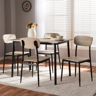 Mid-Century 5-Piece Dining Set by Baxton Studio