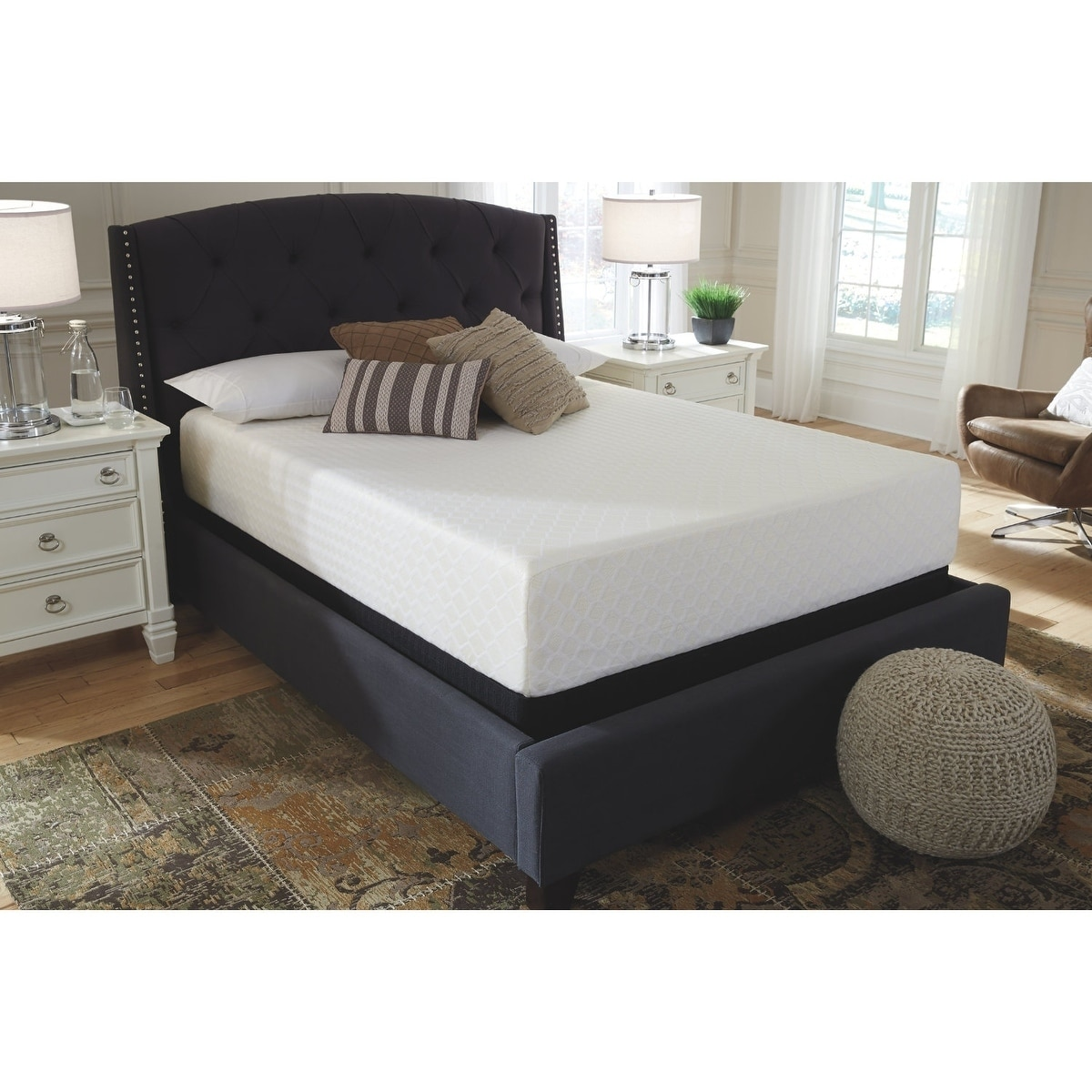 premium selection 63a65 1f8e9 Signature Design by Ashley Chime 12 in King Memory Foam Bed in a Box