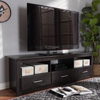 Contemporary Dark Brown TV Stand by Baxton Studio