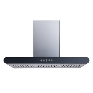 "Winflo O-WH152C36D 36"" 400 CFM Convertible Island Mount Range Hood with Carbon Filters"
