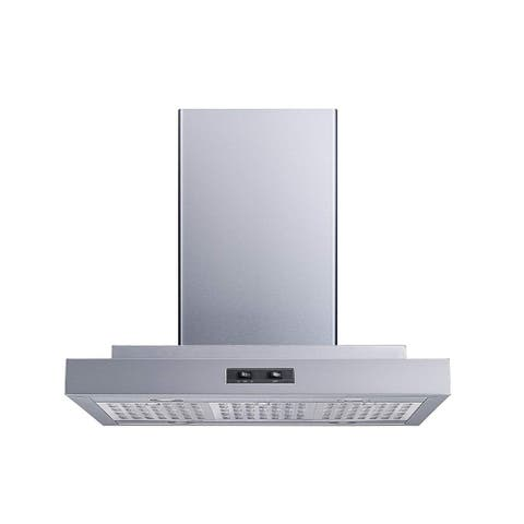 "Winflo O-WH153C30HR 30"" 400 CFM Convertible Island Mount Stainless Steel Range Hood"