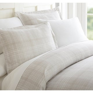 Elegant Comfort Silky Soft Wrinkle Free Duvet Cover Set Thatch Pattern