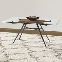 Armen Living Leah Contemporary Glass-top Dining Table