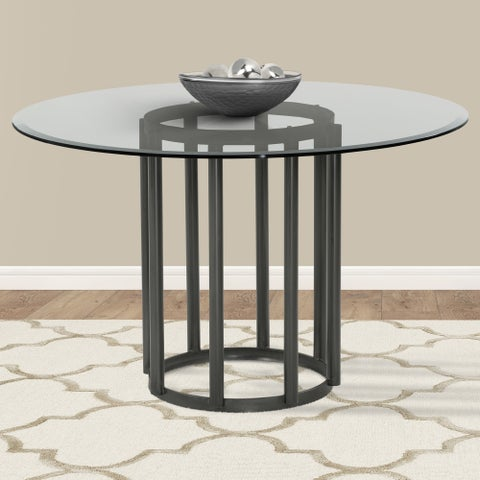 Armen Living Denis Mineral Finish Round Dining Table