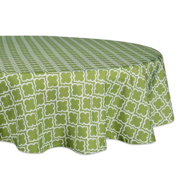 Design Imports DII Summer Stripe Outdoor Tablecloth With Zipper