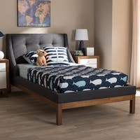 Taylor & Olive Twin Pond Contemporary Fabric Twin-size Platform Bed