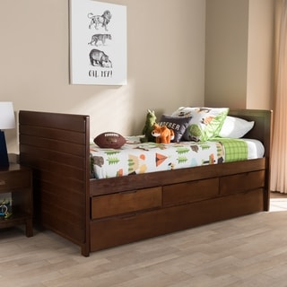 Taylor & Olive Jolnoque Conteporary Wooden Daybed with Trundle
