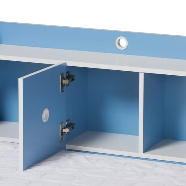 Shop Contemporary Blue and White 2-Piece Bedroom Set by ...
