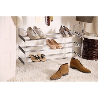 Seville Classics 3-Tier Expandable Adjustable Shoe and Utility Rack