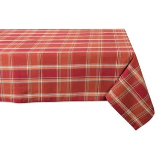Design Imports Holiday Plaid Kitchen Tablecloth
