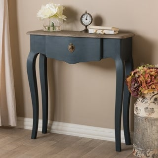 Provincial Blue Spruce Console Table by Baxton Studio