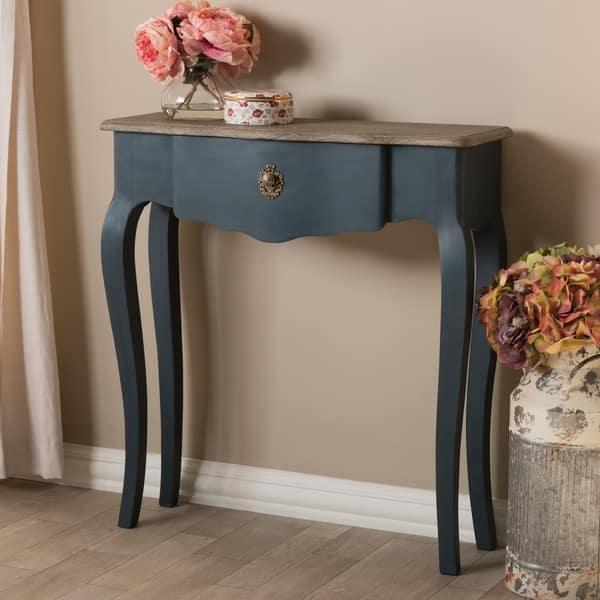 Fabulous Shop Provincial Blue Spruce Console Table By Baxton Studio Spiritservingveterans Wood Chair Design Ideas Spiritservingveteransorg