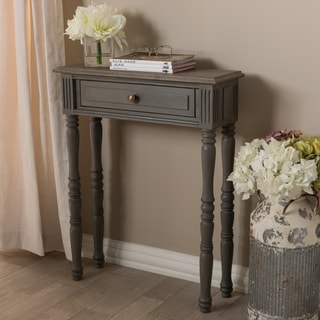 Country Cottage Brown 1-Drawer Console Table by Baxton Studio